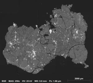 Backscattered electron image of HUT18022